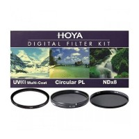 Набор светофильтров Hoya KIT: UV (C) HMC MULTI, PL-CIR, NDX8 49MM