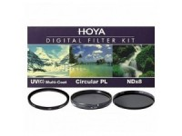 Набор светофильтров Hoya KIT: UV (C) HMC MULTI, PL-CIR, NDX8 55.0MM